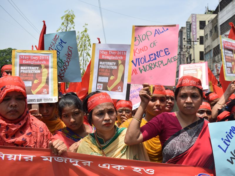 Bangladesh Women Rally For Their Rights in India. Photo credit: Musfiq Tajwar, Solidarity Center
