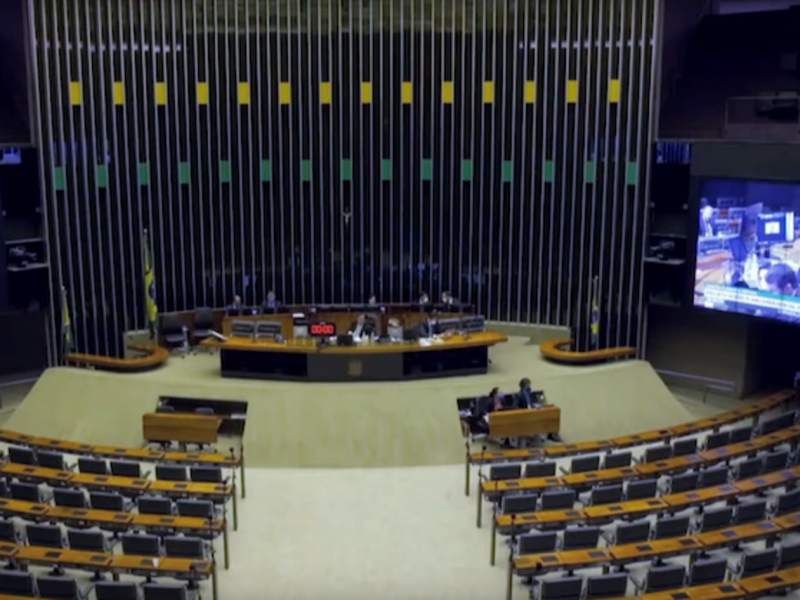 Virtual meeting of the Chamber of Deputies of Brazil. © Chamber of Deputies of Brazil