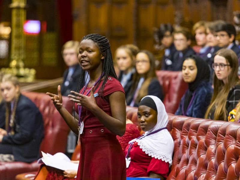 """we believe that a better world comes from giving better opportunities to women and girls"" - Joseline speaks out about girls' rights in Rwanda at the House of Lords. DFID, Flickr."