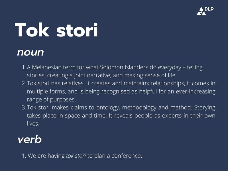 Talking about tok stori