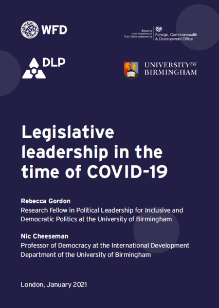 Legislative leadership in the time of COVID-19