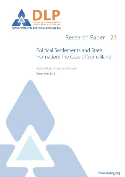 Political Settlements and State Formation: The Case of Somaliland