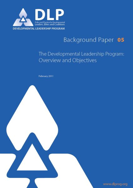 Overview and Objectives: The Developmental Leadership Program