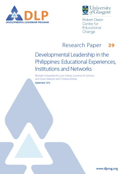 Developmental leadership in the Philippines: Educational experiences, institutions and networks