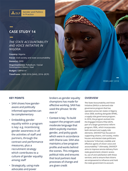 Case Study - The State Accountability and Voice Initiative in Nigeria