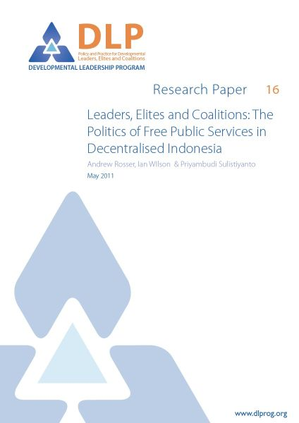 The Politics of Free Public Services in Decentralised Indonesia