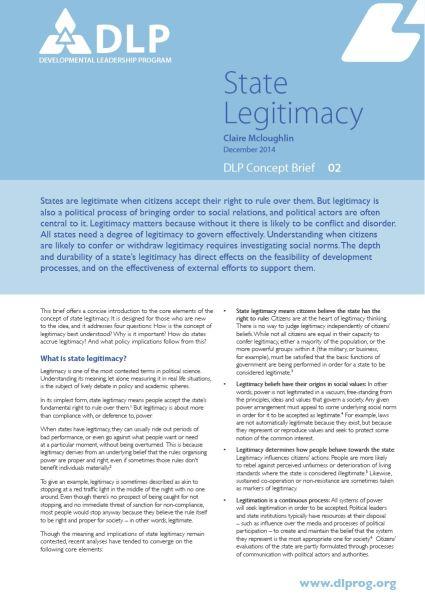 State Legitimacy