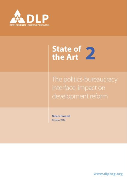 The Politics-Bureaucracy Interface: Impact on Development Reform