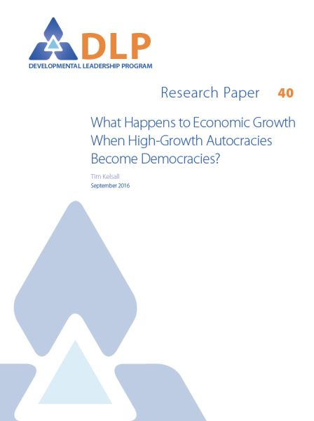 What Happens to Economic Growth When High-Growth Autocracies Become Democracies?
