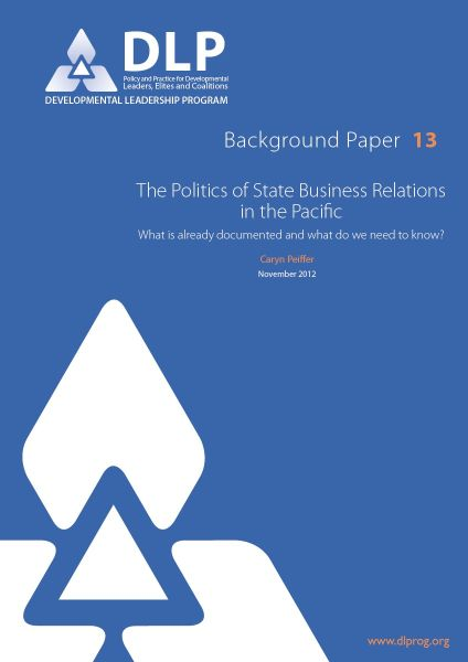 The Politics of State Business Relations in the Pacific