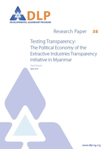 Testing Transparency: The Political Economy of the Extractive Industries Transparency Initiative in Myanmar