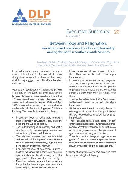 Executive Summary - Between Hope and Resignation