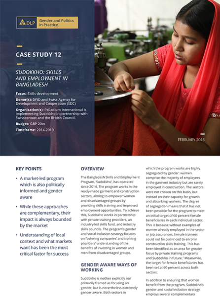 Case Study - Sudokkho: Skills and employment in Bangladesh