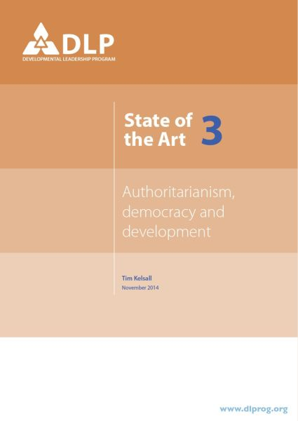 Authoritarianism, Democracy and Development