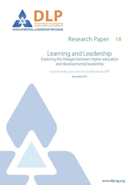 Learning and Leadership: Exploring the linkages between higher education and developmental leadership