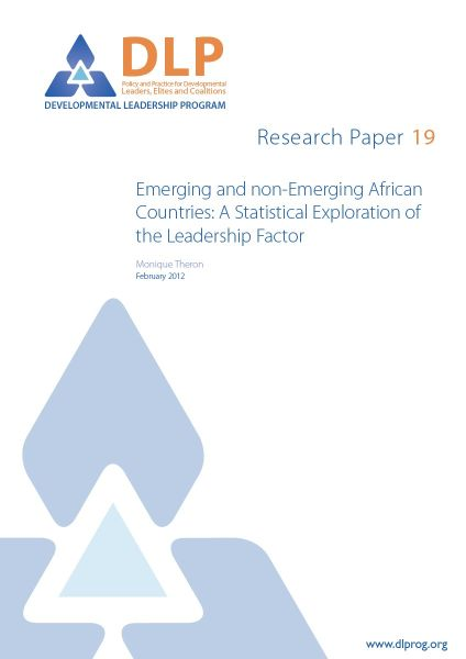 Emerging and Non-Emerging African Countries: A Statistical Exploration of the Leadership Factor