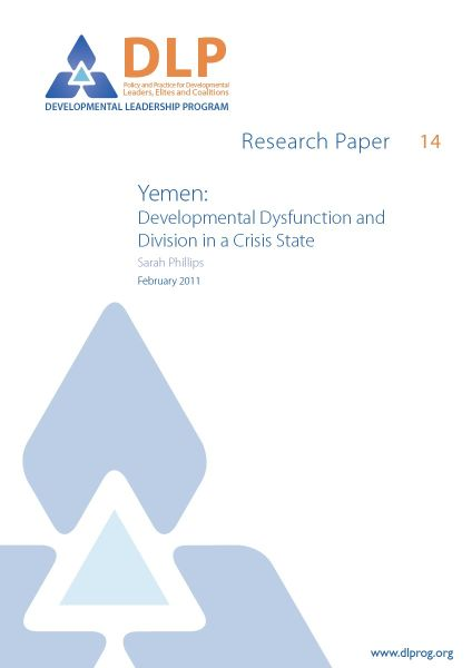 Yemen: Developmental Dysfunction and Division in a Crisis State