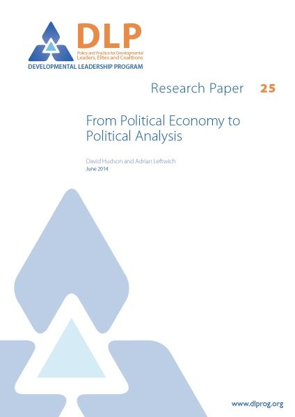 From Political Economy to Political Analysis