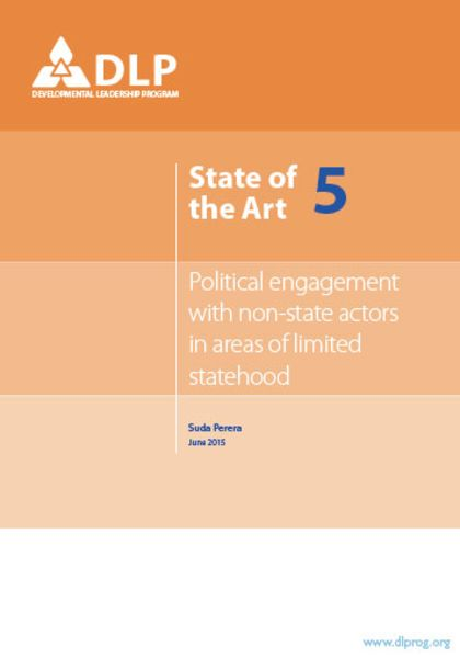 Political Engagement with Non-State Actors in Areas of Limited Statehood