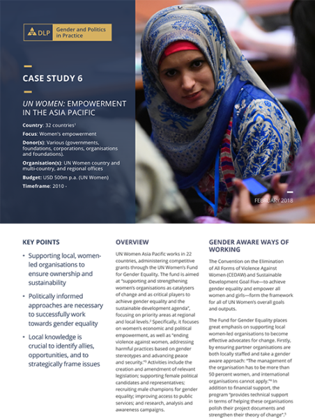 Case Study - UN Women: Empowerment in the Asia Pacific