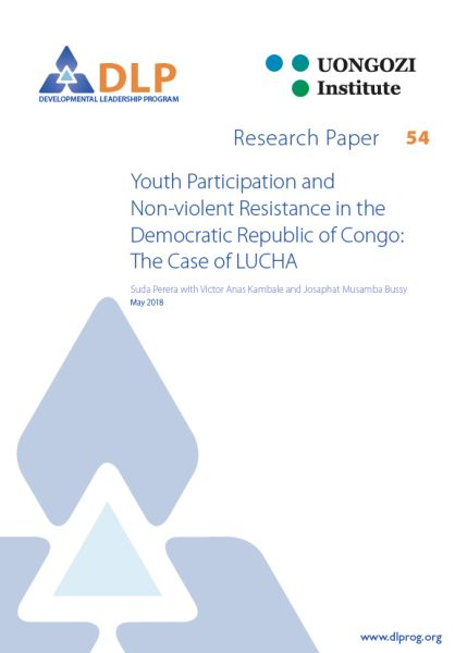 Youth Participation and Non-violent Resistance in the Democratic Republic of Congo: The Case of LUCHA