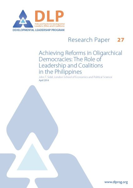 Achieving Reforms in Oligarchical Democracies: The Role of Leadership and Coalitions in the Philippines