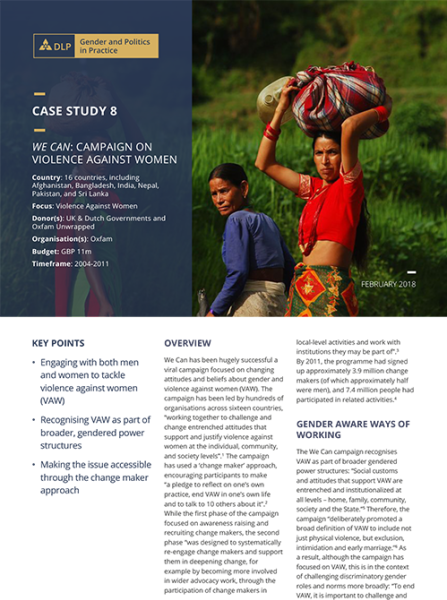Case Study - We Can: Campaign on violence against women