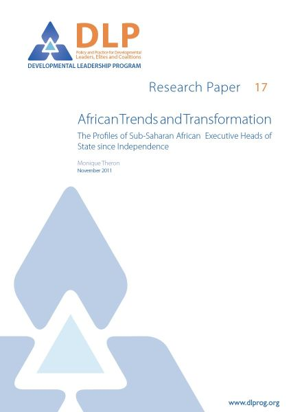 African Trends and Transformation: The Profiles of Sub-Saharan African Executive Heads of State since Independence