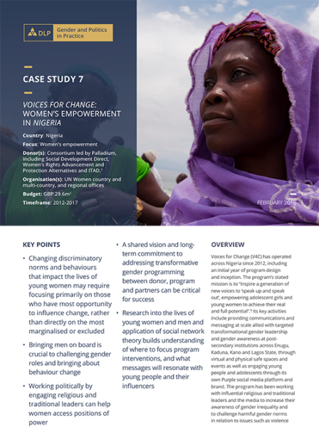 Case Study - Voices for Change: Women's empowerment in Nigeria