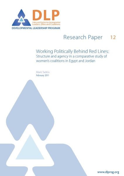 Working Politically Behind Red Lines: Structure and agency in a comparative study of women's coalitions in Egypt and Jordan