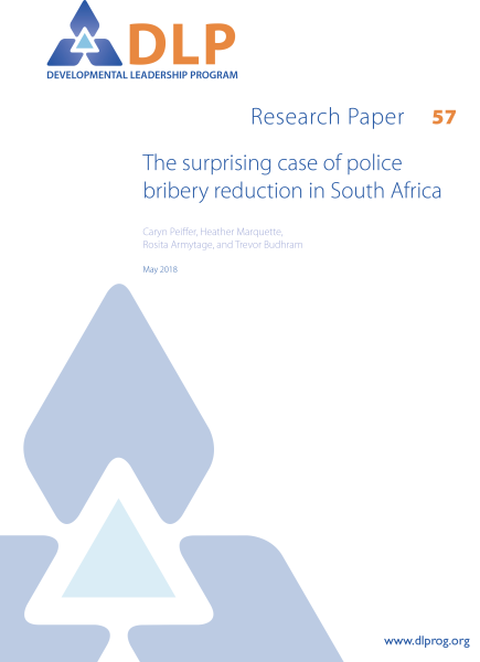 The Surprising Case of Police Bribery Reduction in South Africa