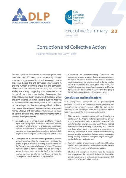 Executive Summary - Corruption and Collective Action