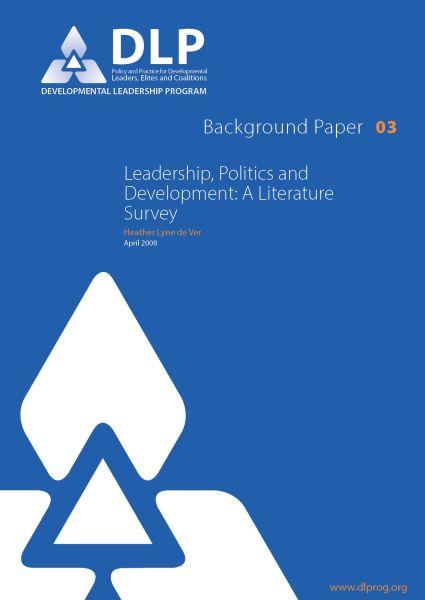 Leadership, Politics and Development
