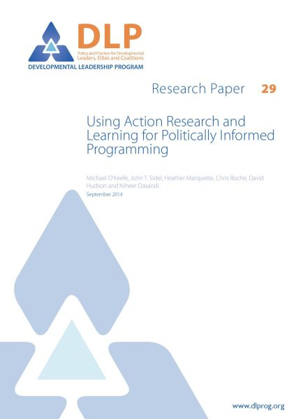 Using Action Research and Learning for Politically Informed Programming