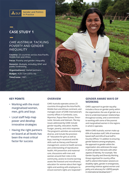 Case Study - Care Australia: Tackling Poverty and Gender Inequality