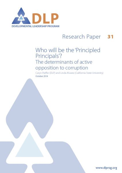 Who will be the 'Principled Principals'? The determinants of active opposition to corruption