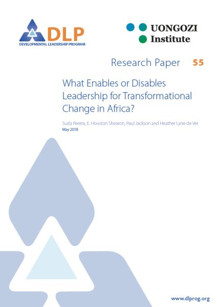 What Enables or Disables Leadership for Transformational Change in Africa?