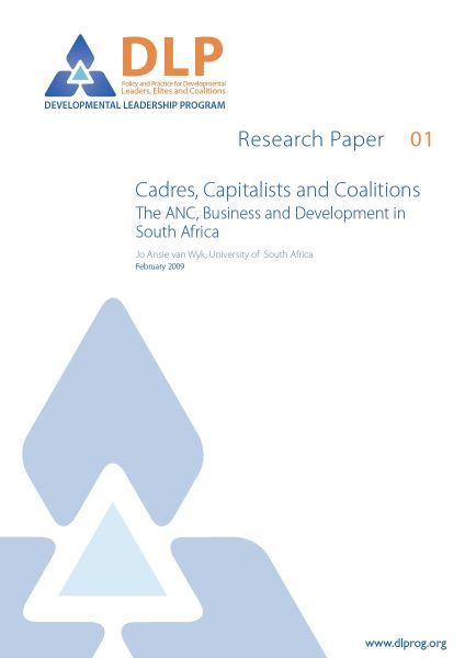 Cadres, Capitalists and Coalitions: The ANC, Business and Development in South Africa