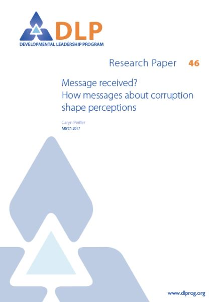 Message received? How messages about corruption shape perceptions