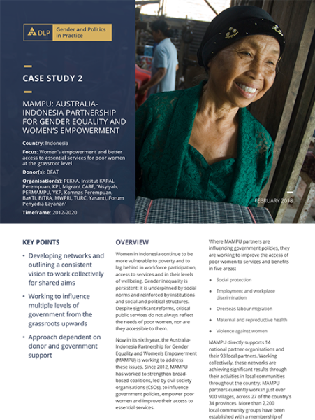Case Study - MAMPU: Australia-Indonesia Partnership for Gender Equality and Women's Empowerment