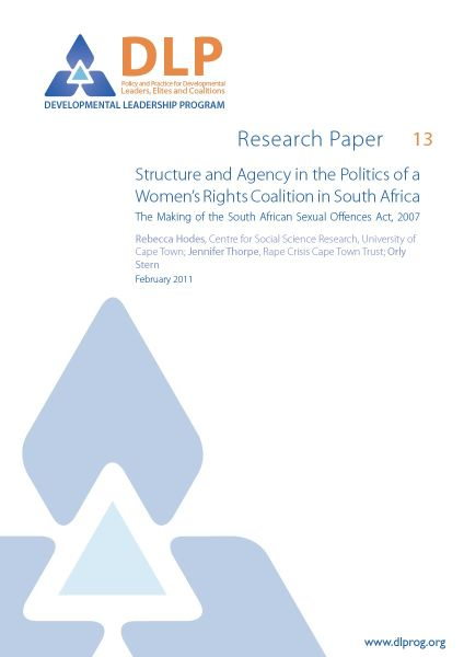 Structure and Agency in the Politics of a Womens Rights Coalition in South Africa