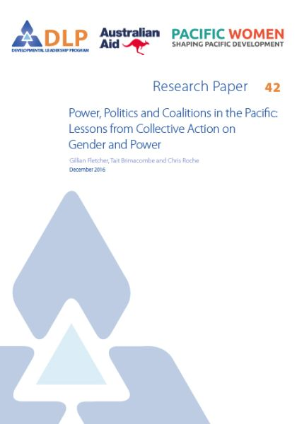 Power, Politics and Coalitions in the Pacific: Lessons from Collective Action on Gender and Power