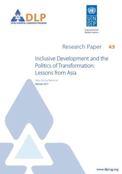Inclusive Development and the Politics of Transformation: Lessons from Asia