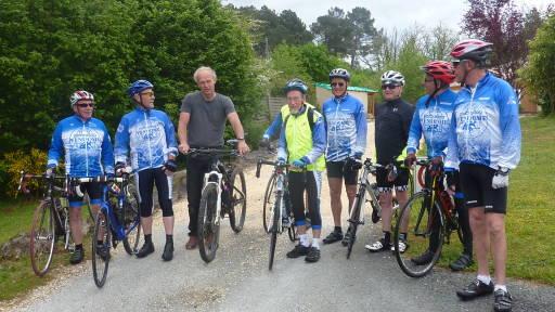 Club de cyclistes pour un séjour de groupe au Bosc Nègre
