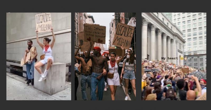 Дочь Ивана Урганта присоединилась к уличным протестам в США