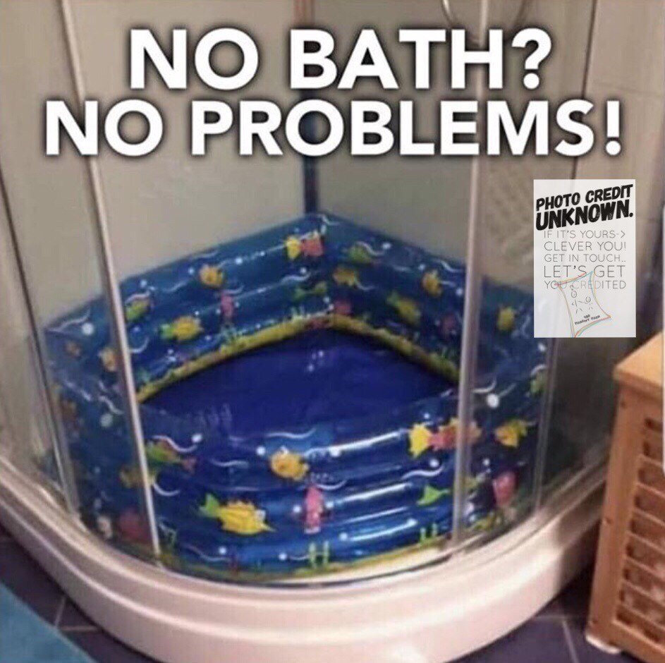 Paddling pool bath