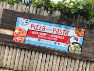 Pizza signage at Alton Towers