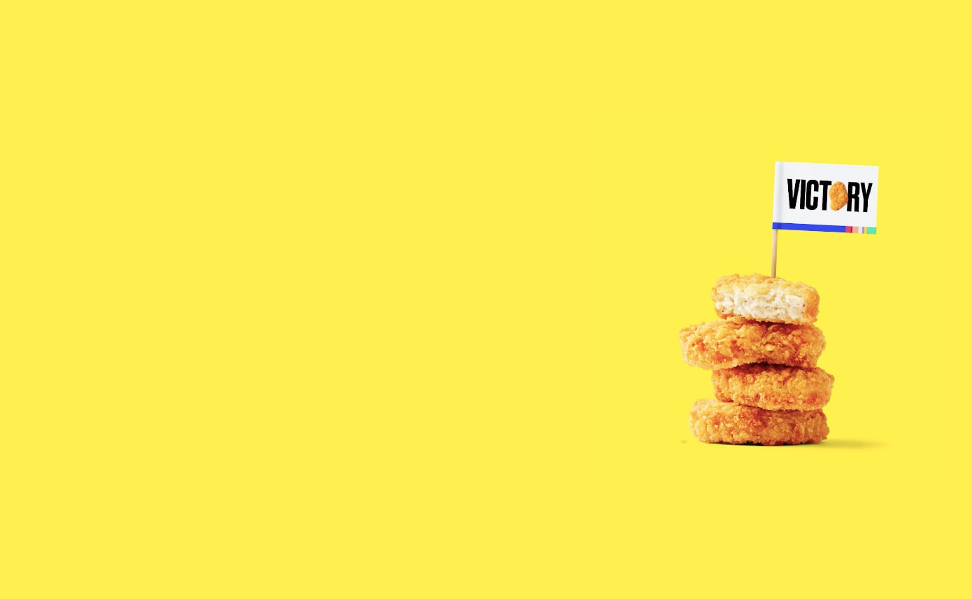 Chicken Nuggets Victory Homepage Takeover Desktop Still Image
