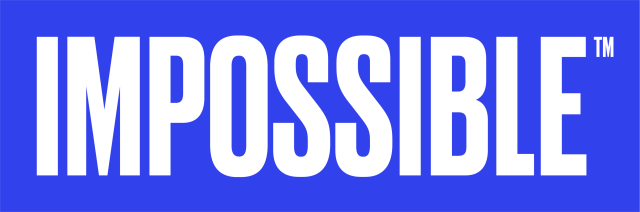 Blue White Impossible Logo