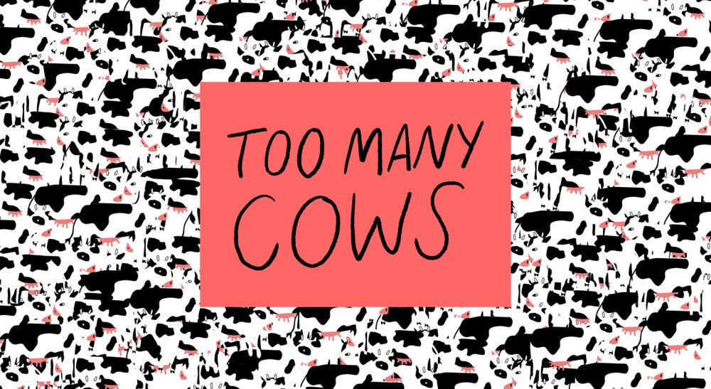 Too Many Cows Illustration
